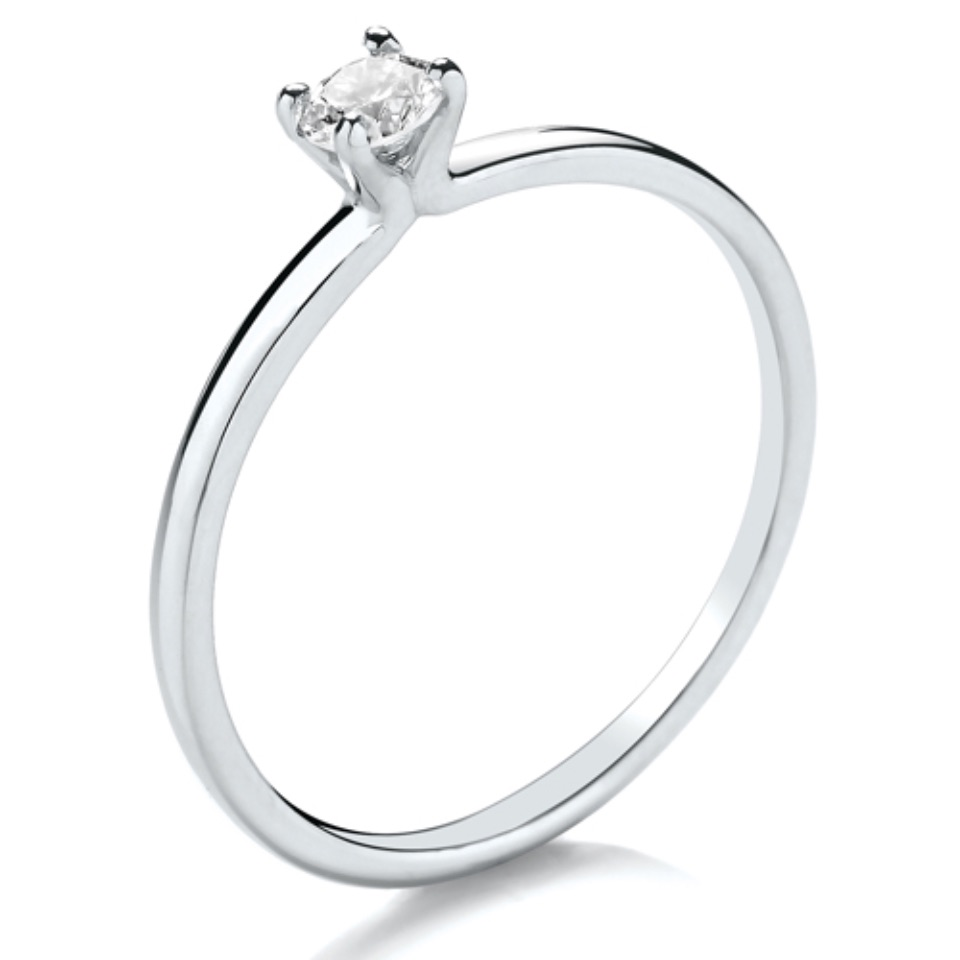Delicate Open V Claw Setting 0.15ct