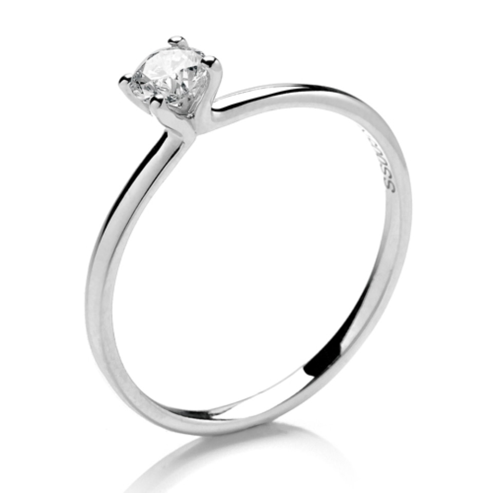 Delicate Open V Claw Setting 0.25ct