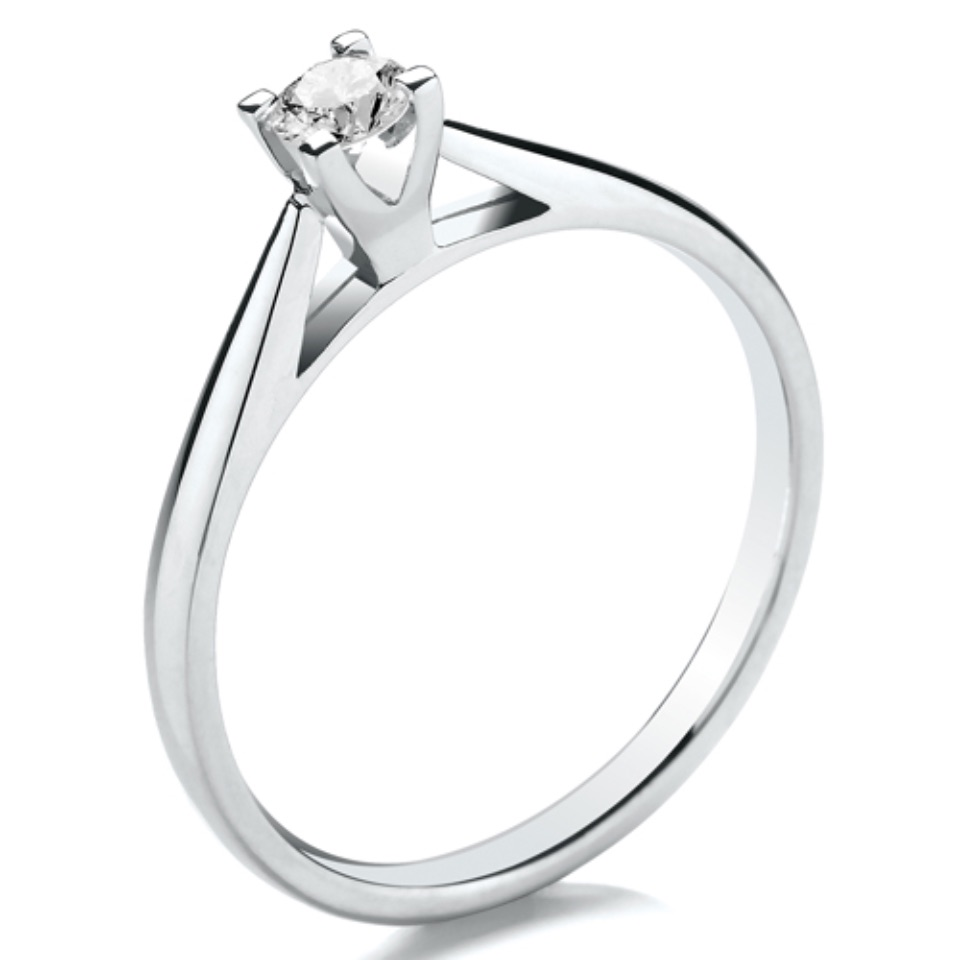 High Set V Square Claw Open Setting 0.15ct