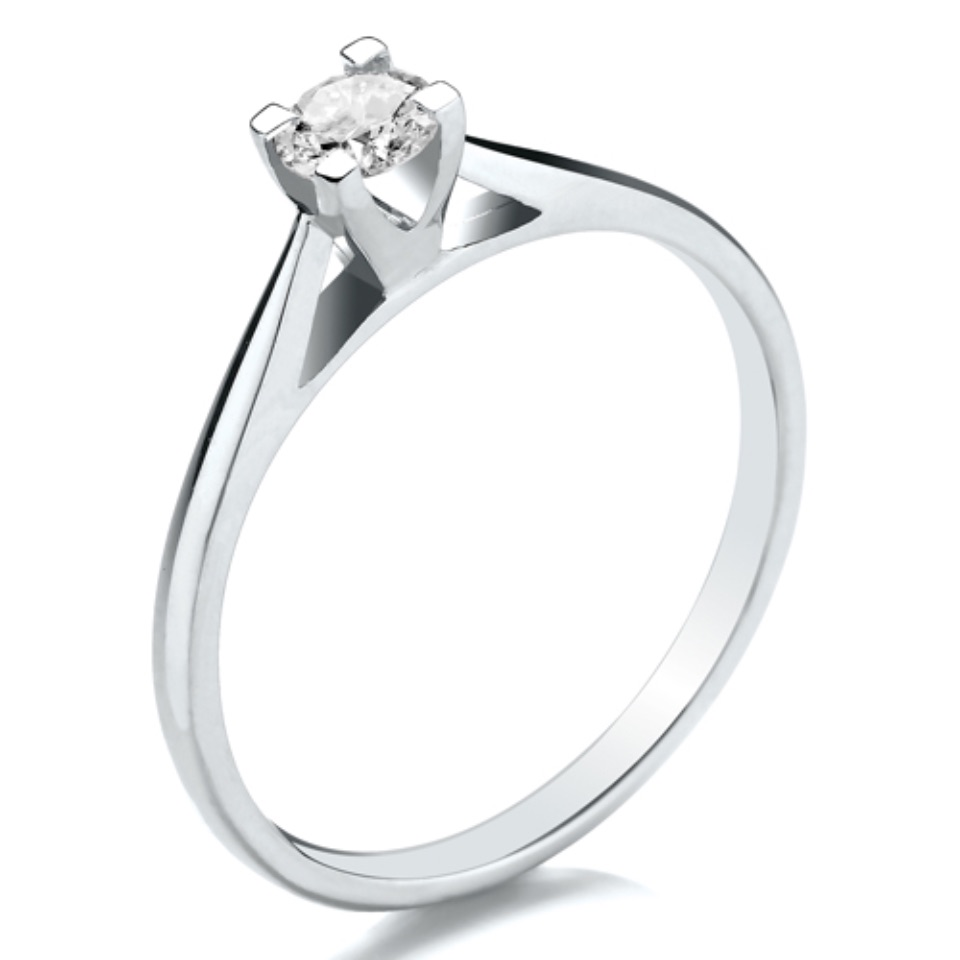 High Set V Square Claw Open Setting 0.25ct
